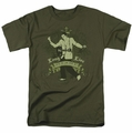 Elvis t-shirt Long Live The King mens military green