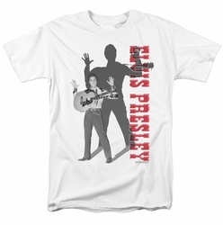 Elvis t-shirt Look No Hands mens white