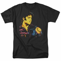 Elvis t-shirt Neon Elvis mens black
