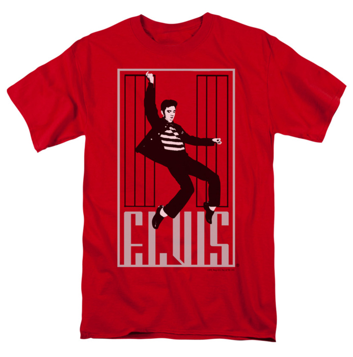Elvis T Shirt One Jailhouse Mens Red