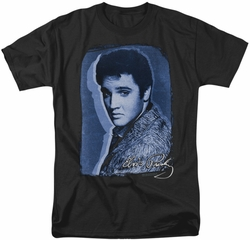 Elvis t-shirt Overlay mens black