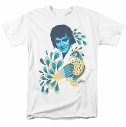 Elvis t-shirt Peacock mens white