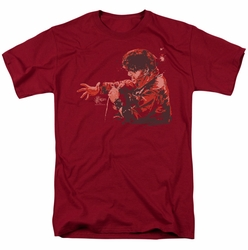 Elvis t-shirt Red Comback mens cardinal