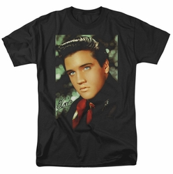 Elvis t-shirt Red Scarf mens black