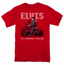 Elvis t-shirt Return Of The King mens red
