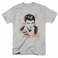Elvis t-shirt Rockin With The King mens silver