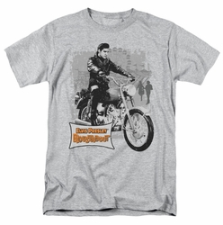 Elvis t-shirt Roustabout Poster mens heather