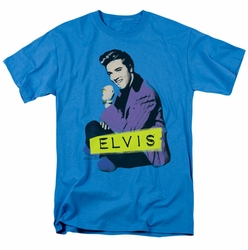 Elvis t-shirt Sitting mens turquoise
