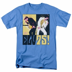 Elvis t-shirt Still The King mens carolina blue