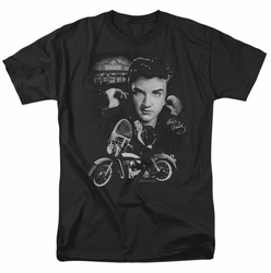 Elvis t-shirt The King Rides Again mens black