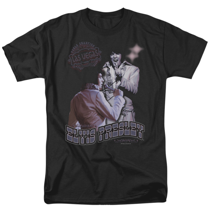 Elvis T Shirt Violet Vegas Mens Black