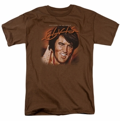 Elvis t-shirt Welcome To My World mens coffee