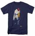 Elvis t-shirt Yellow Scarf mens navy