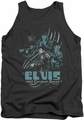 Elvis tank top 68 Leather mens charcoal