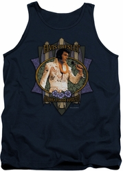 Elvis tank top Aloha From Hawaii mens navy