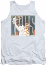 Elvis tank top Aloha Knockout mens white
