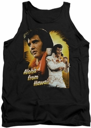 Elvis tank top Aloha mens black