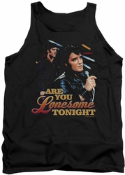 Elvis tank top Are You Lonesome mens black