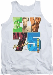 Elvis tank top Birthday 2010 mens white