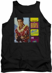 Elvis tank top Blue Hawaii Album mens black
