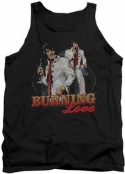Elvis tank top Burning Love mens black