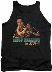 Elvis tank top Can't Help Falling mens black