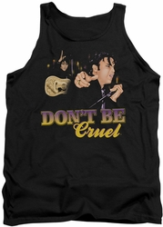 Elvis tank top Don't Be Cruel mens black