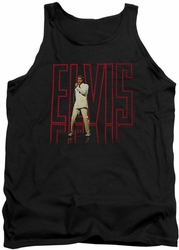 Elvis tank top Elvis 68 Album mens black