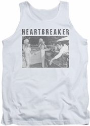 Elvis tank top Heartbreaker mens white
