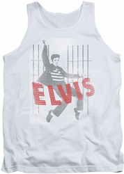 Elvis tank top Iconic Pose mens white