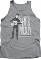 Elvis tank top In Person mens athletic heather
