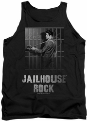 Elvis tank top Jailhouse Rock mens black