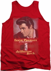 Elvis tank top Jailhouse Rock Poster mens red