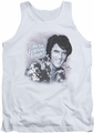 Elvis tank top Lonesome Tonight mens white