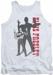 Elvis tank top Look No Hands mens white