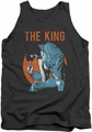 Elvis tank top Mic In Hand mens charcoal