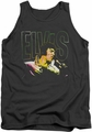 Elvis tank top Multicolored mens charcoal