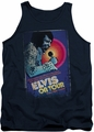 Elvis tank top On Tour Poster mens navy