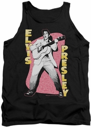 Elvis tank top Pink Rock mens black