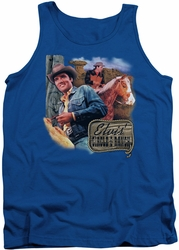 Elvis tank top Ranch mens royal