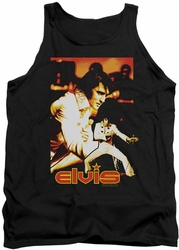 Elvis tank top Showman mens black
