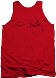 Elvis tank top Signature Sketch mens red