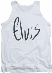 Elvis tank top Sketchy Name mens white