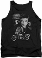Elvis tank top The King Rides Again mens black