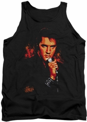 Elvis tank top Trouble mens black