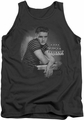Elvis tank top Trouble mens charcoal