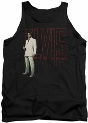 Elvis tank top White Suit mens black