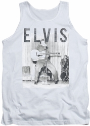 Elvis tank top With The Band mens white