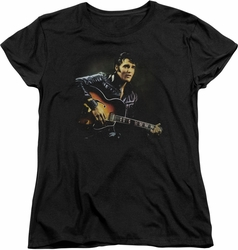 Elvis womens t-shirt 1968 black
