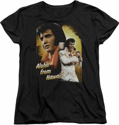 Elvis womens t-shirt Aloha black